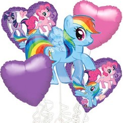 My Little Pony Balloon Bouquet - Assorted Foil