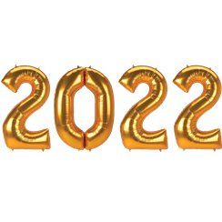 "2018 Gold Foil Balloon Numbers - 34"" Foil"