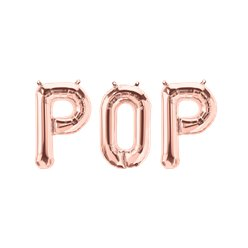 "'POP' Rose Gold Balloon Kit - 34"" Foil"