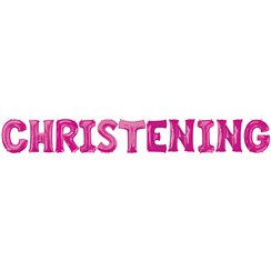 'Christening' Pink Foil Balloon Kit - 16""