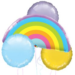 Rainbow Pastel Balloon Bouquet
