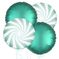 Mint Green Candy Stripe Balloon Bouquet