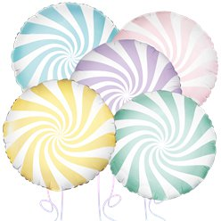 Pastel Candy Stripe Balloon Bouquet