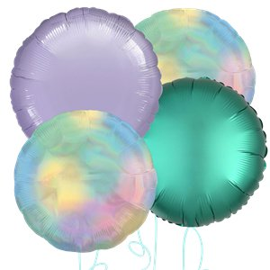 Pastel Rainbow Round Balloon Bouquet