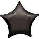 "Black Star Balloon - 19"" Foil - Unpackaged"