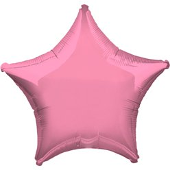 "Metallic Pink Star Balloon - 19"" Foil - Unpackaged"