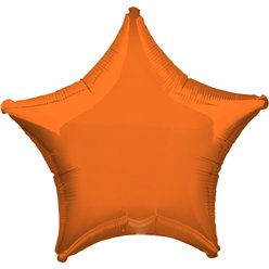 "Orange Star Balloon - 19"" Foil"