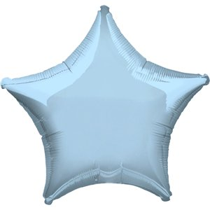 Metallic Pastel Blue Star Balloon - 19