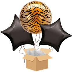 Tiger Orbz Balloon Bouquet - Delivered Inflated