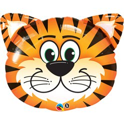 "Birthday Tickled Tiger Supershape Balloon - 30"" Foil"