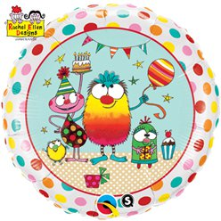 "Rachel Ellen Monster Birthday Balloon - 18"" Foil"