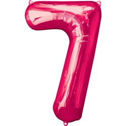 Pink Number 7 Balloon - 34