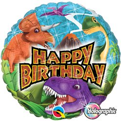 "Happy Birthday Dinosaurs Balloons - 18"" Foil"