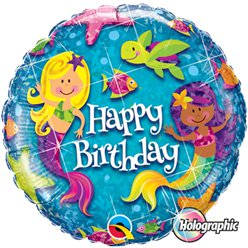 "Birthday Mermaids Balloon - 18"" Foil"