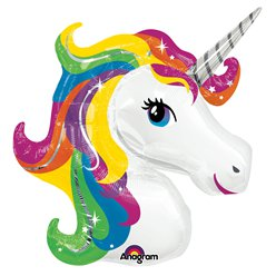 "Rainbow Unicorn SuperShape Balloon - 33"" Foil"