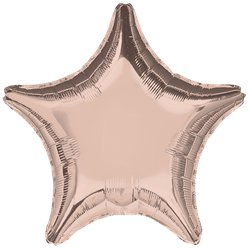"Rose Gold 18"" Star Foil Balloon"