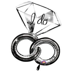 I Do Wedding Rings SuperShape Balloon - 30
