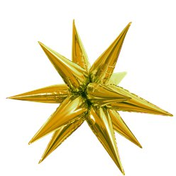 Gold 3D Starburst Balloon - 27