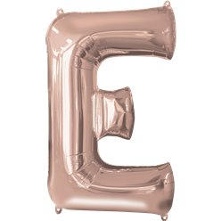 Rose Gold Letter E Balloon - 34 Foil