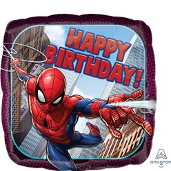 'Happy Birthday' Spider-Man Foil Balloon - 18
