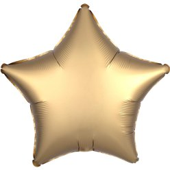 Gold Sateen Satin Luxe Star Foil Balloon - 18