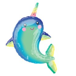 "Narwhal Supershape Balloon - 39"" Foil"