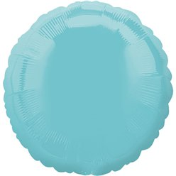 Robins Egg Blue Round Balloon - 18'' Foil - unpackaged