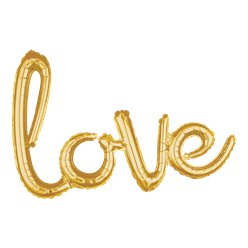 Gold Love Phrase Balloon - 31