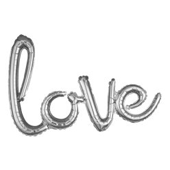 Silver Love Phrase Balloon - 31