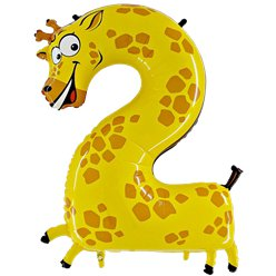 Giraffe Number 2 Balloon - 40'' Animaloon Foil