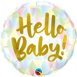 Pastel Hello Baby Balloon - 18