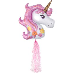 Magical Unicorn Balloon and Twirlz Tail Kit