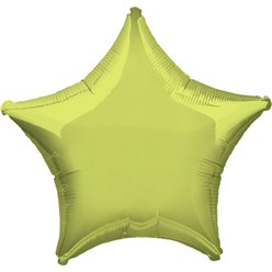 Metallic Lime Green Star Balloon - 19