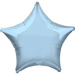 "Metallic Pastel Blue Star Balloon - 19"" Foil"