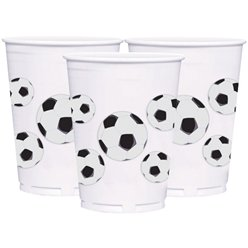 Championship Football Cups - 414ml Large Plastic Party Cups