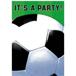 Championship Soccer Folded Party Invitations