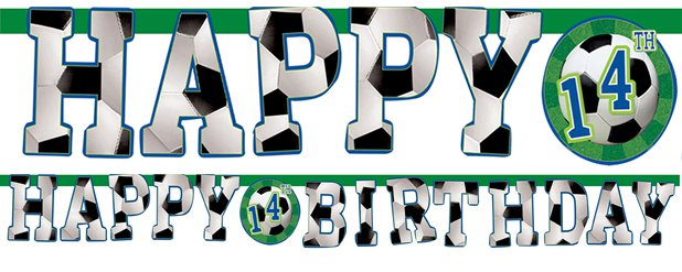 Football Banner - 3.2m Add An Age Letter
