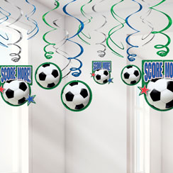Football Hanging Swirls Decoration - 60cm
