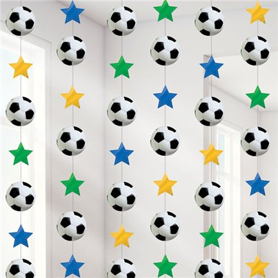 Football Hanging Strings Decoration - 2.1m