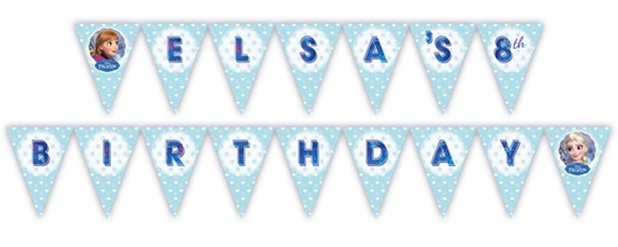 Disney Frozen Personalised Holographic Foil Bunting - 3m