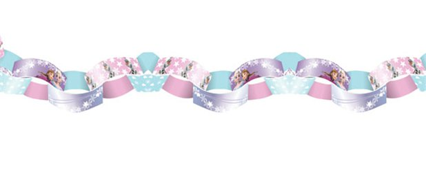Disney Frozen Ice Skating Paper Chain Link Garland