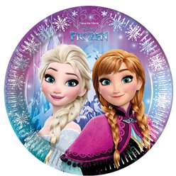 Disney Frozen Plates - 23cm Paper Party Plates