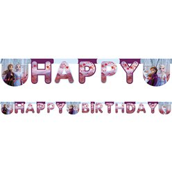 Disney Frozen 2 Happy Birthday Banner - 2m