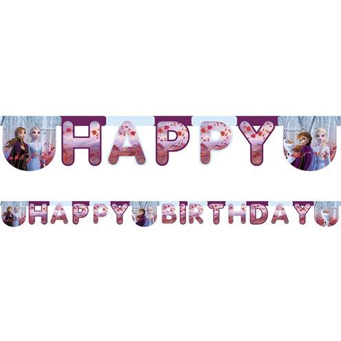 Anna Elsa Party Decorations Disney Frozen 2m Happy Birthday Letter Banner