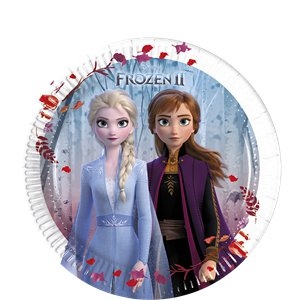 Disney Frozen 2 Plates - 20cm Paper Party Plates