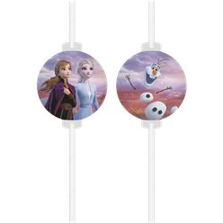 Disney Frozen 2 Paper Drinking Straws