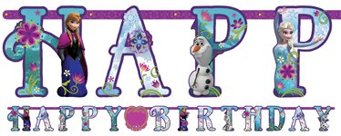 Disney Frozen Banner - Add An Age Letter