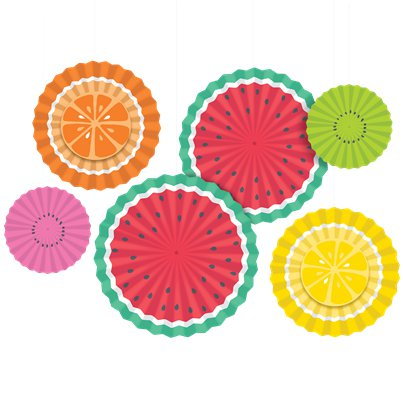Tutti Frutti Hanging Fan Decorations