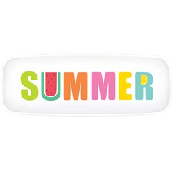 Tutti Frutti Long Plastic Serving Platter - 44cm