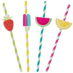 Sweet & Succulent Paper Straws
